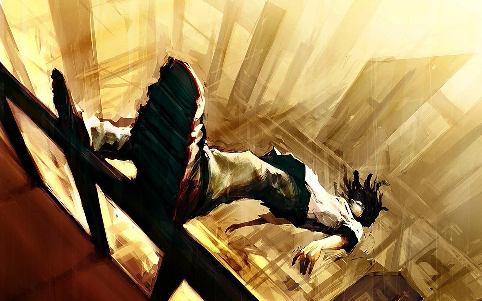 niño cayendo de un balcon